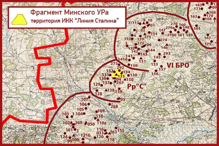 A detailed plan of the Minsk Fortified Region